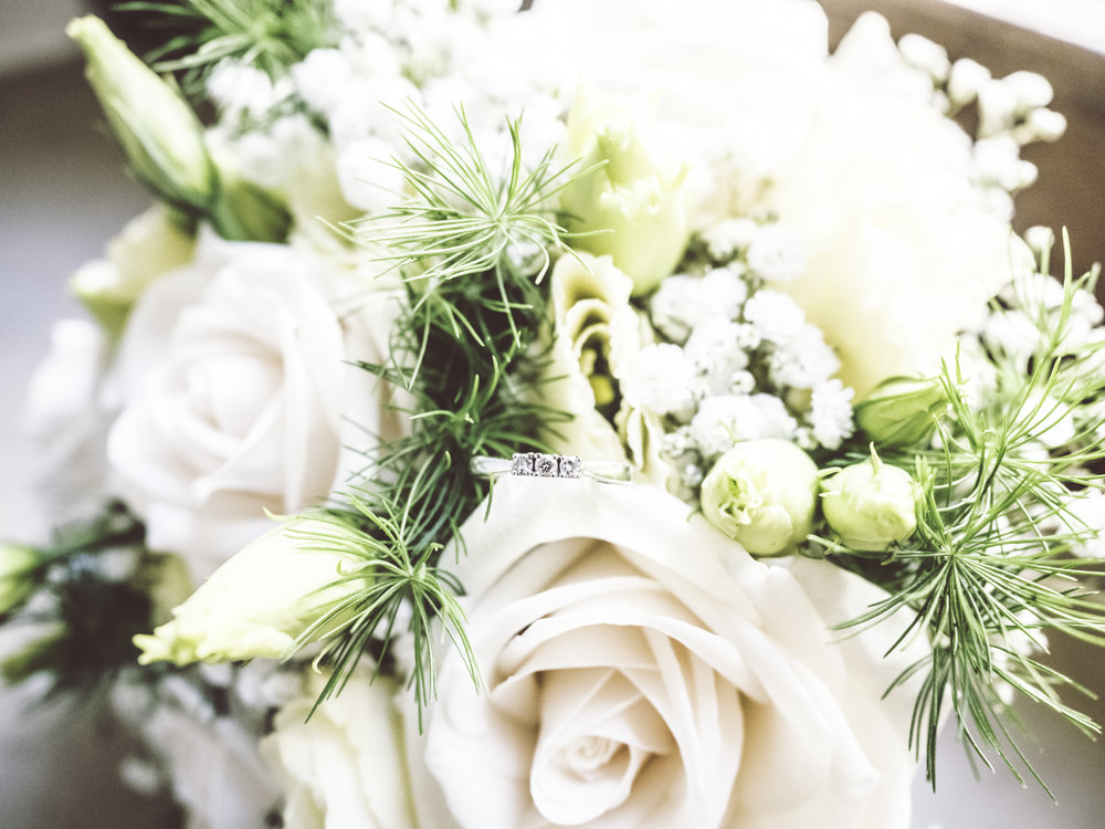 Photo of a bridal bouquet.