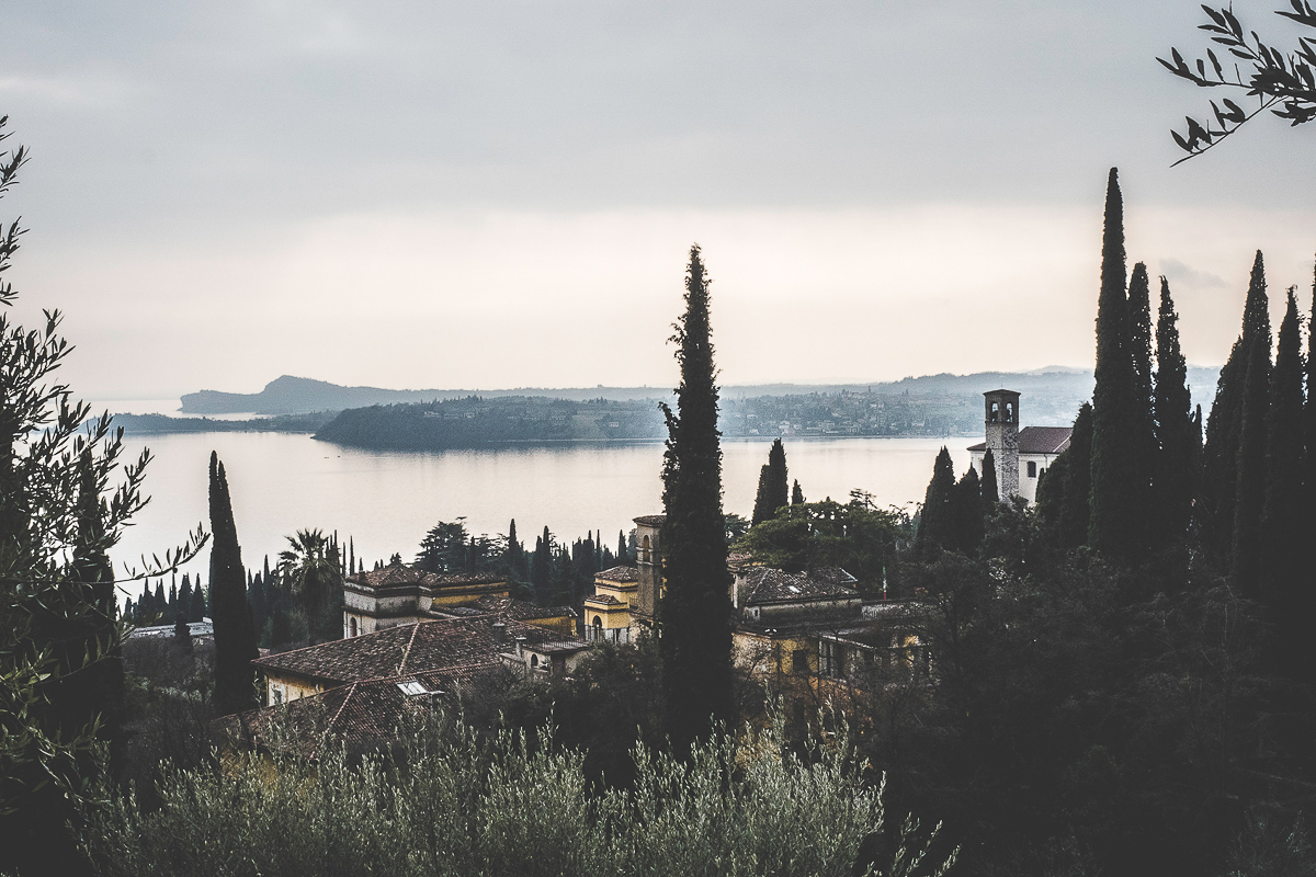 View of the Lake Garda from Il Vittoriale.