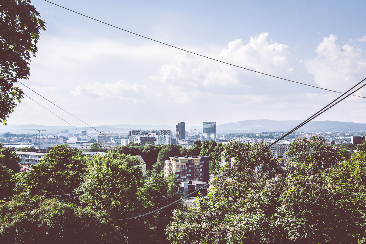 A panoramic view of Oslo from Ekeberg Park