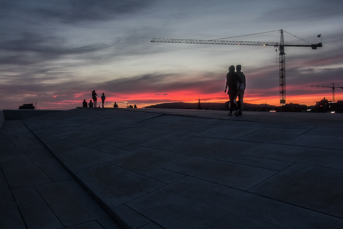 Sunset from the Oslo Opera House