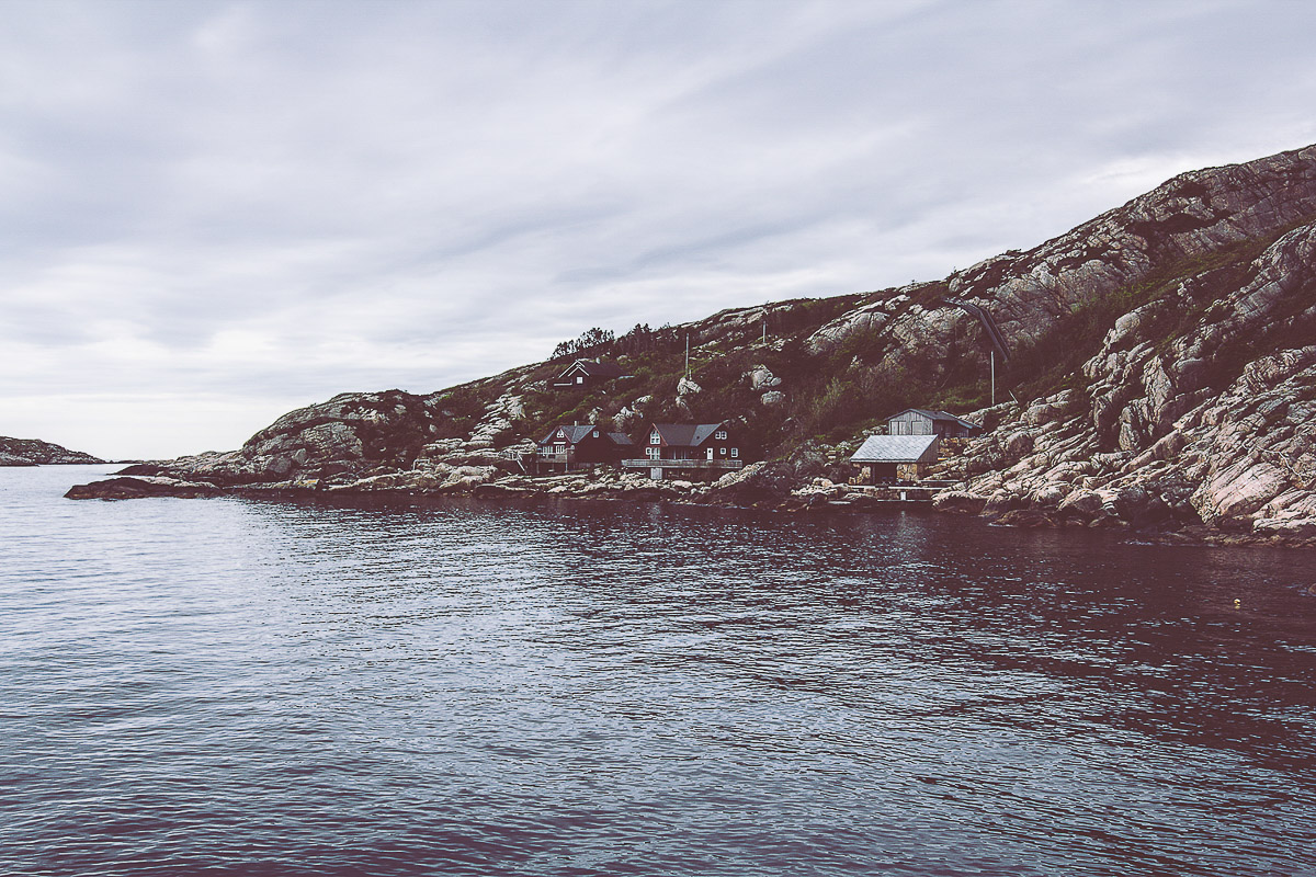 A gloomy photo of the sea from the coast of Lindesnes, Norway